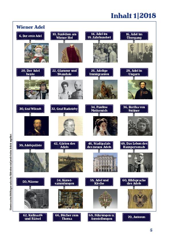 Inhaltsverzeichnis der ersten Ausgabe