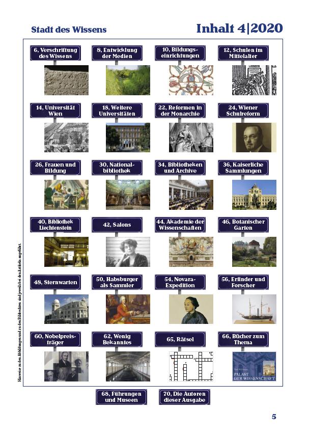 Inhaltsverzeichnis der vierten Ausgabe